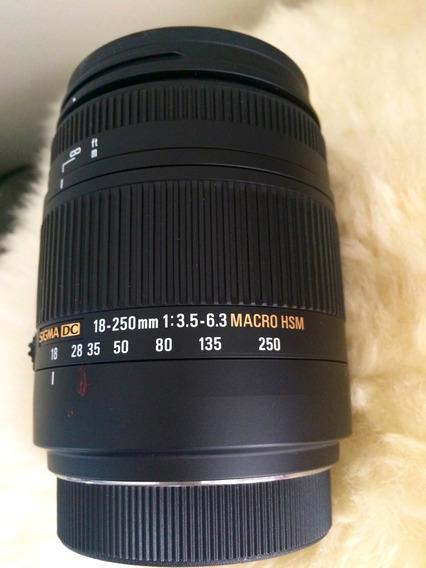 Lente Sigma Dc 18-250mm 1:3.5-6.3 Macro Hsm Sony A-mount