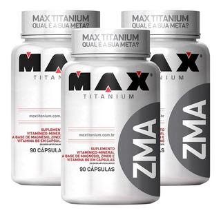 3x Pré Hormonal Zma 90caps - Max Titanium