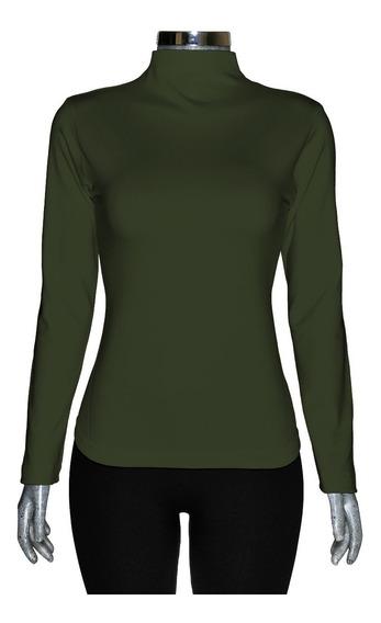 Blusa Térmica (afelpada) De Lycra, Cuello Alto, Unitalla