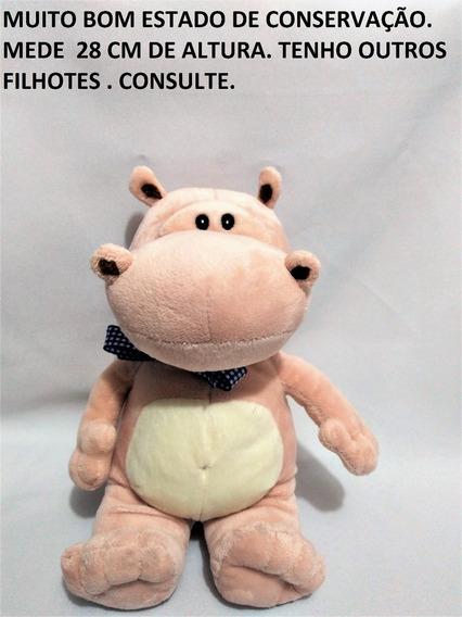 Pelúcia Hipopótamo Galera Filhote Animal Nestle Usado $