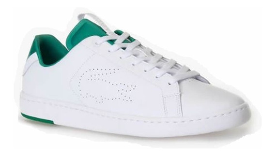 Ténis Lacoste Carnaby Light White/green + Brinde