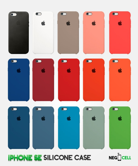 Funda De Silicón Case Apple Original iPhone Se, 6s, 6s Plus