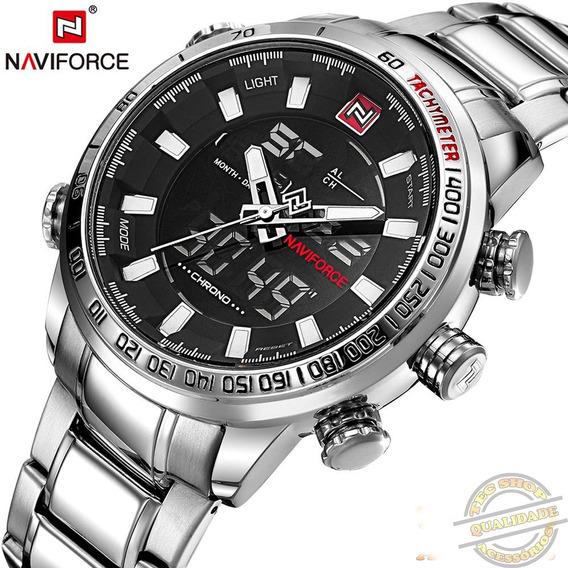 Relógio Masculino Prata Esportivo Digital Resistente A Água