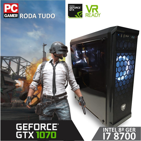Pc Gamer Core I7 8700-gtx 1070 8gb-16gb Ddr4-ssd M2 240gb