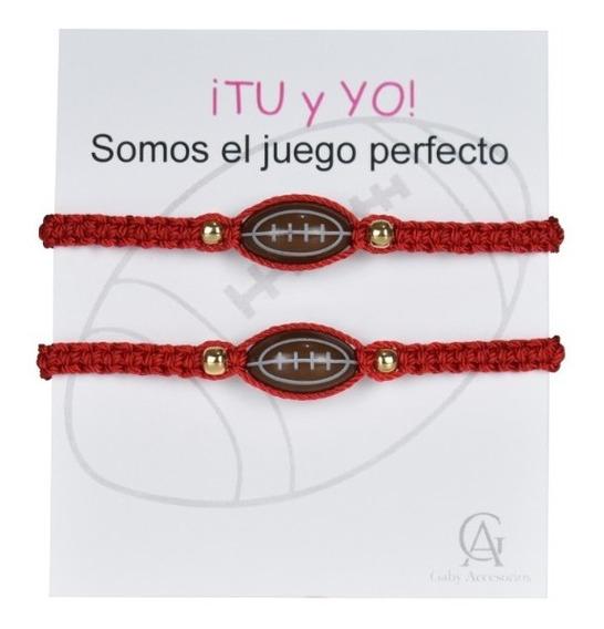 Pulseras Futbol Americano Parejas Duo Deportes