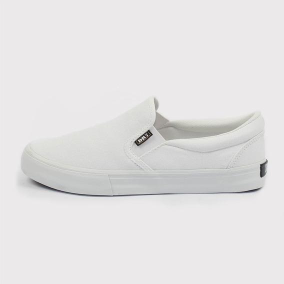 Tênis Sem Cadarço Skate Dr7 Flow Lona Branco Total Original