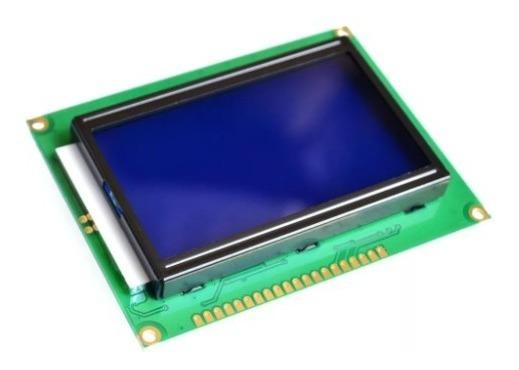 Display Lcd Gráfico Glcd 128x64 Backlight Azul St7920