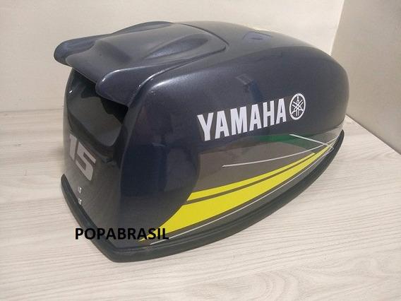 Capo Para Motor De Popa Yamaha 15 Hp Paralelo Faixa Amarela