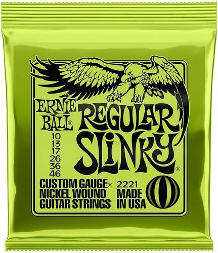 Imagem 1 de 5 de Encordoamento 010 Guitarra Ernie Ball Regular Slinky 2221