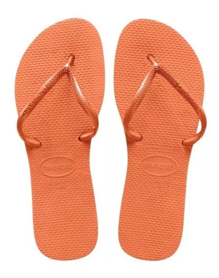 Zonazero Havaianas Ojotas Flat Naranja Mujer Originales