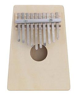 Andoer 10 Claves Abedul Dedo Pulgar Piano Mbira, Beige
