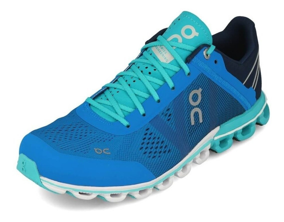 Tênis On Running Cloudflow Azul/verde Feminino