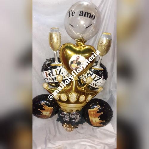 Floristeria Ramos Arreglo Caballeros Globos  Día Del Padre