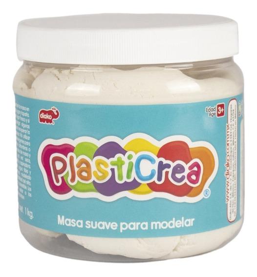 Plasticrea Masa Moldeable 1k Didáctico Blanca Plastilina