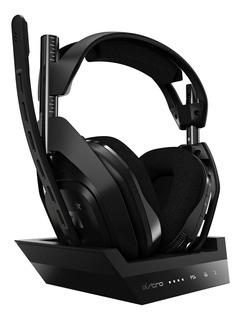 Auriculares gamer inalámbricos Astro A50 negro y gris