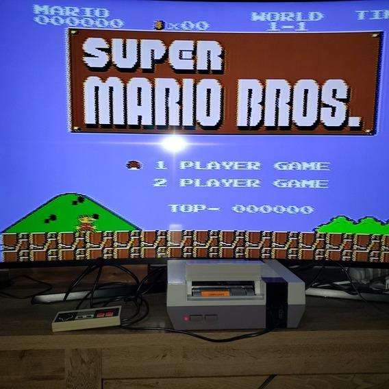 Nintendo Nes ( Nintendinho) Com Controle E Super Mario 1
