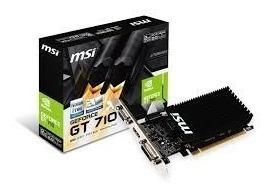 Tarjeta De Video 2gb Msi Geforce Gt 710 Ddr3 Gt-710-2gd3h-lp