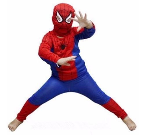 Disfraz De Spiderman,talles Para 2 A 6 Años.
