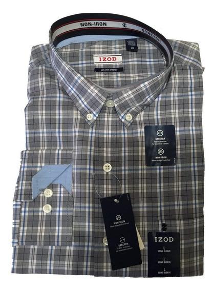 Camisa De Vestir Marca Izod Para Hombre, Nueva