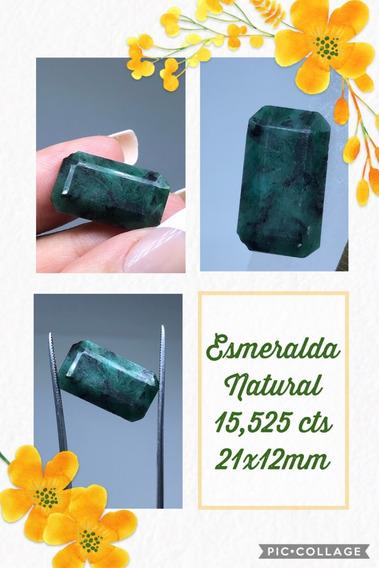 Esmeralda 15 525 Cts Retangular Natural 21x12 Mm Exercito
