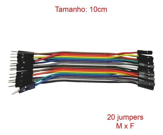 Cabo Jumper Macho X Fêmea 10 Cm 20 Unidades Arduino Pic Mxf