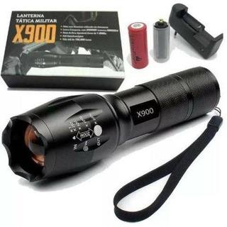 Lanterna Tática Militar X900 Recarregável Sem Choque