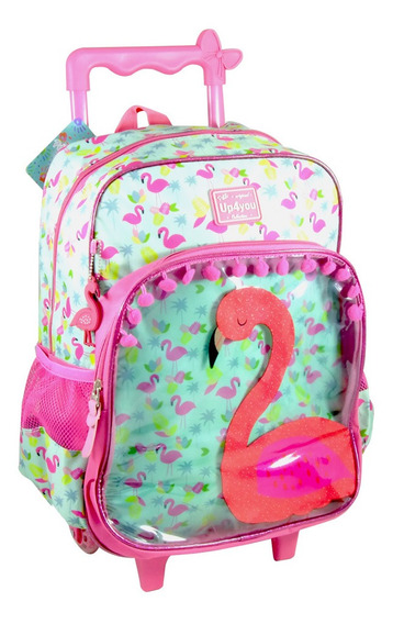Mochila Rodinha Flamingo Infantil Petit Colletion -original