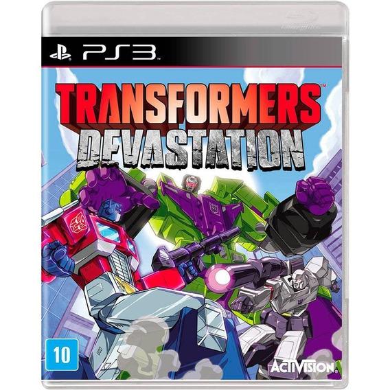 Game Ps3 Transformers Devastation - Original - Novo