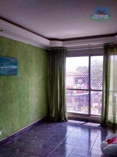 Apartamento Com 2 Dormitórios À Venda Por R$ 320.000 - Jardim Santa Clara - Guarulhos/sp - Ap0799