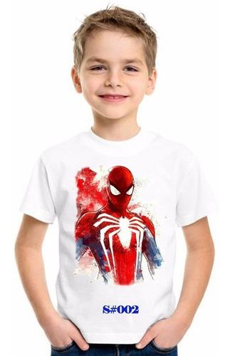 Franelas Spiderman/ Hombre Araña Niños Y Adultos