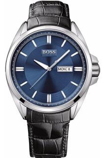 Reloj Hugo Boss De Hombre Malla De Cuero Mod 1512877