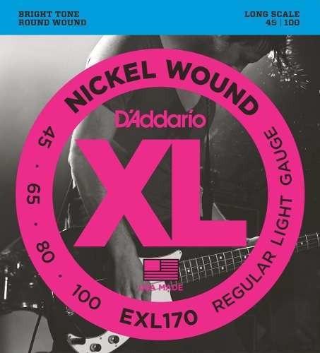 Cuerdas Bajo 4 Daddario Exl170 45-100 - Queen