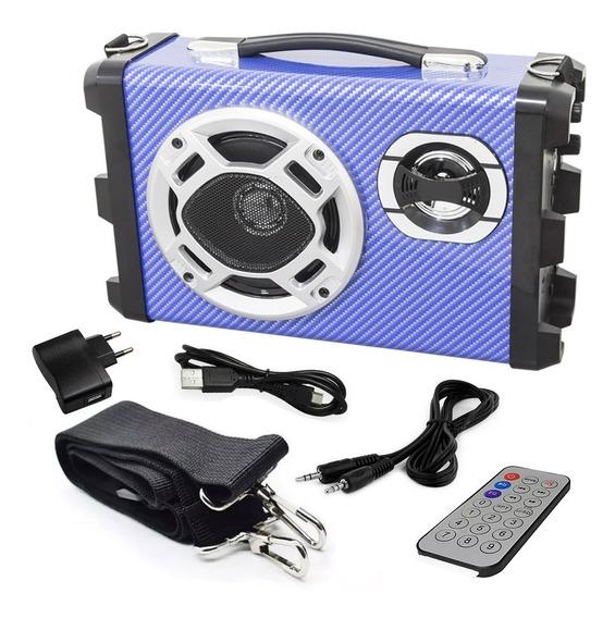 Kit 2 Caixa De Som Radio Bluetooth Usb/sd Fm Mp3