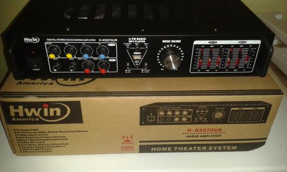 Amplificador Sonido Hwin America Precio 75 Verde$$s