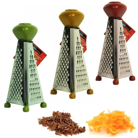 Mini Ralador Piramide Para Alimentos Com Três Faces