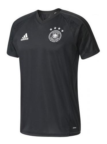 Camisa De Treino Original adidas Alemanha 2017 Preta B10555
