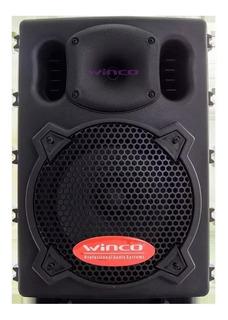 Parlante Activo Potenciado 300w Bluetooth Usb Winco W208 Ideal Fiestas Hogares Exterior Salones