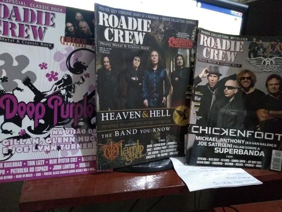 Revista Roadie Crew - Ano 12 - 124,125,126 - 3 Edições.