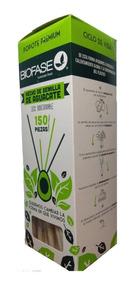 Caja Con 150 Popotes Biodegradables De Semilla De Aguacate