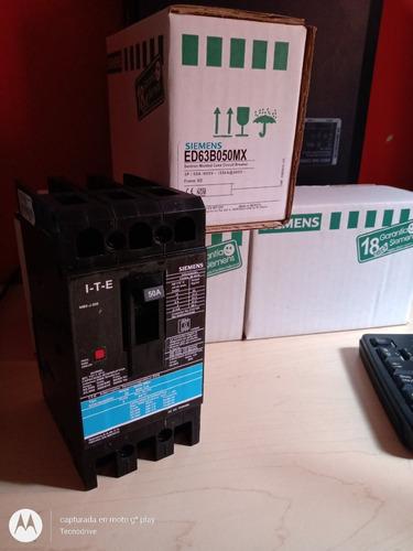 Imagen 1 de 3 de Interruptor Termomagnetico Marca Siemens 3 Polos 50 Amp.
