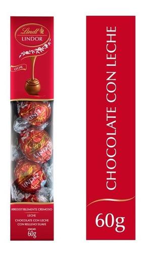 Imagen 1 de 2 de Chocolate Lindor De Lindt Trufas De Leche Tubo