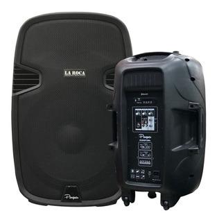 Bafle Activo Potenciado 15 200w Bluetooth Usb Sd La Roca