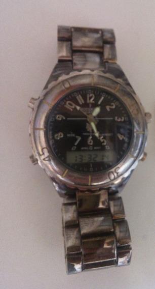Relógio Pulso Usado Potenzia Anadigi Analógico Digital Cinza