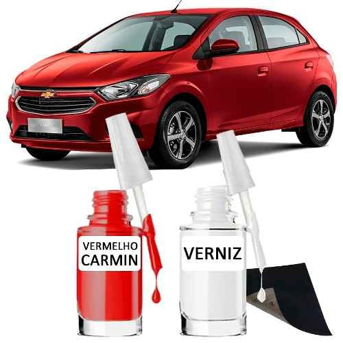Tinta Tira Risco Automotivo Chevrolet Vermelho Carmin