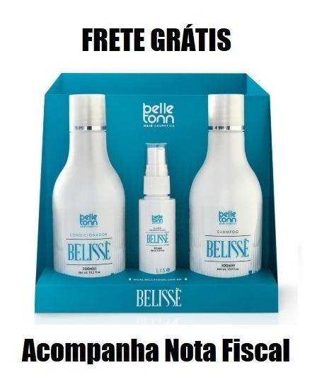 Belisse Kit De Alisamento, Sh + Cond 300ml +fluido 65ml + Nf