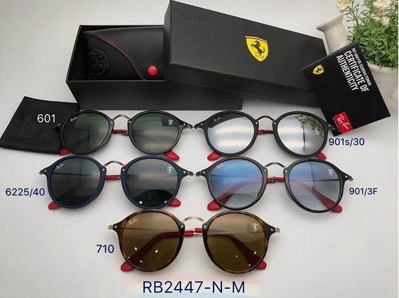 Oculos De Sol Ferrari Masculino Feminino Round Fleck
