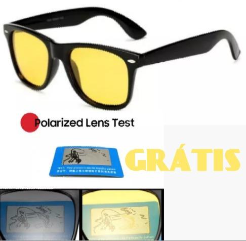 Óculos Amarelo Para Noite De Sol Polarizado De Estrada