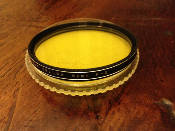 Filtro Amarelo Medio Vivitar 62 Mm K - 2 Com Estojo - Excel.