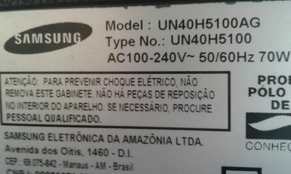 Placa Fonte Samsung Usada Modelo Un40h5100ag