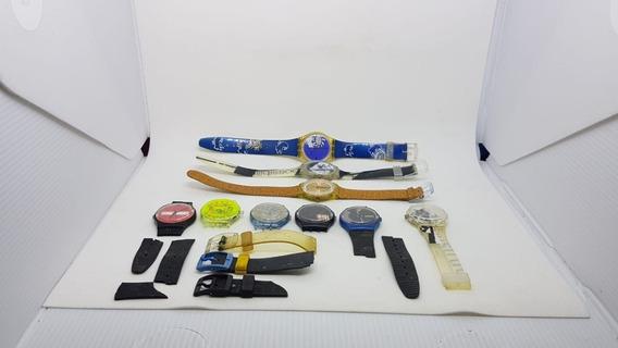 Lote Com 9 Relogios Swatch 3 Com E 6 Sem Pulseiras A14